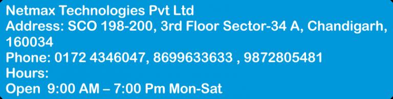 plc automation training in baddi plc automation training in baddi PLC Automation Training In Baddi Netmax Technologies sco 198 200 office address 768x194